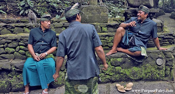 Balinese Men Talking