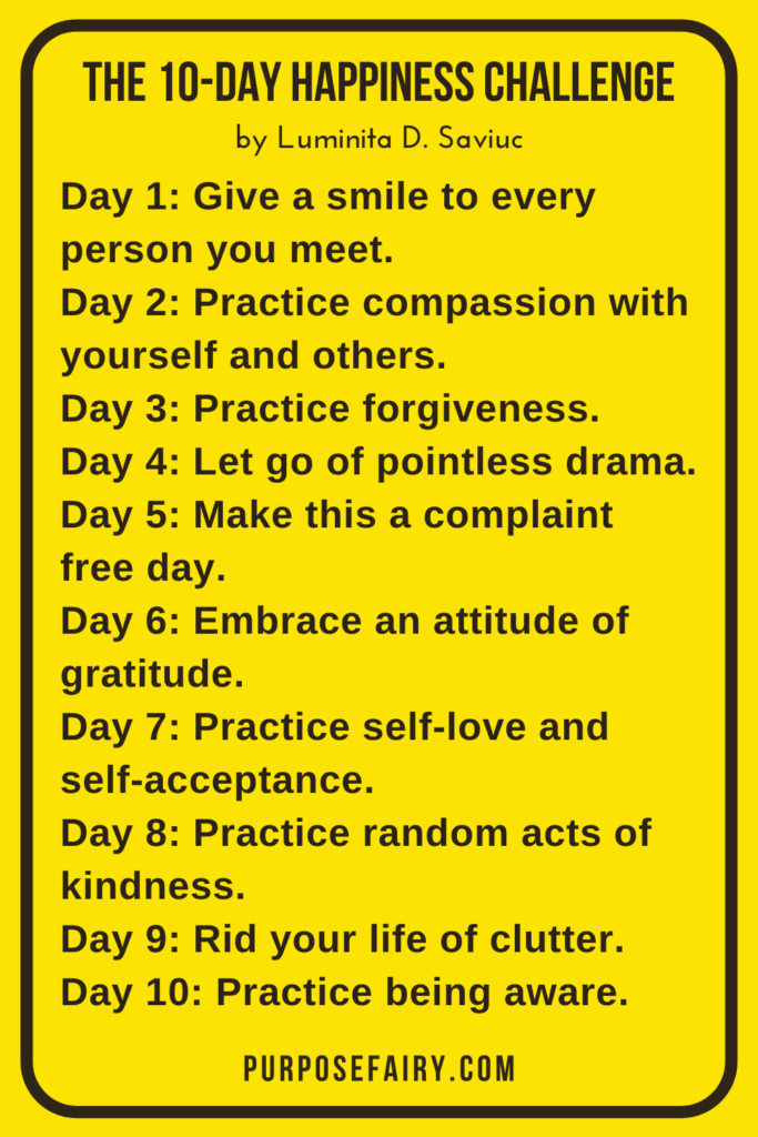 How to Be Happy: The 10-Day Happiness Challenge