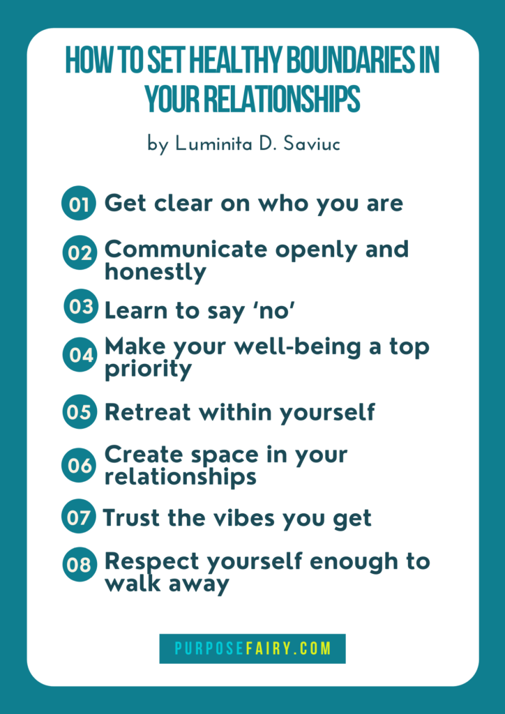 8 Steps to Create Healthy Boundaries in Your Relationships