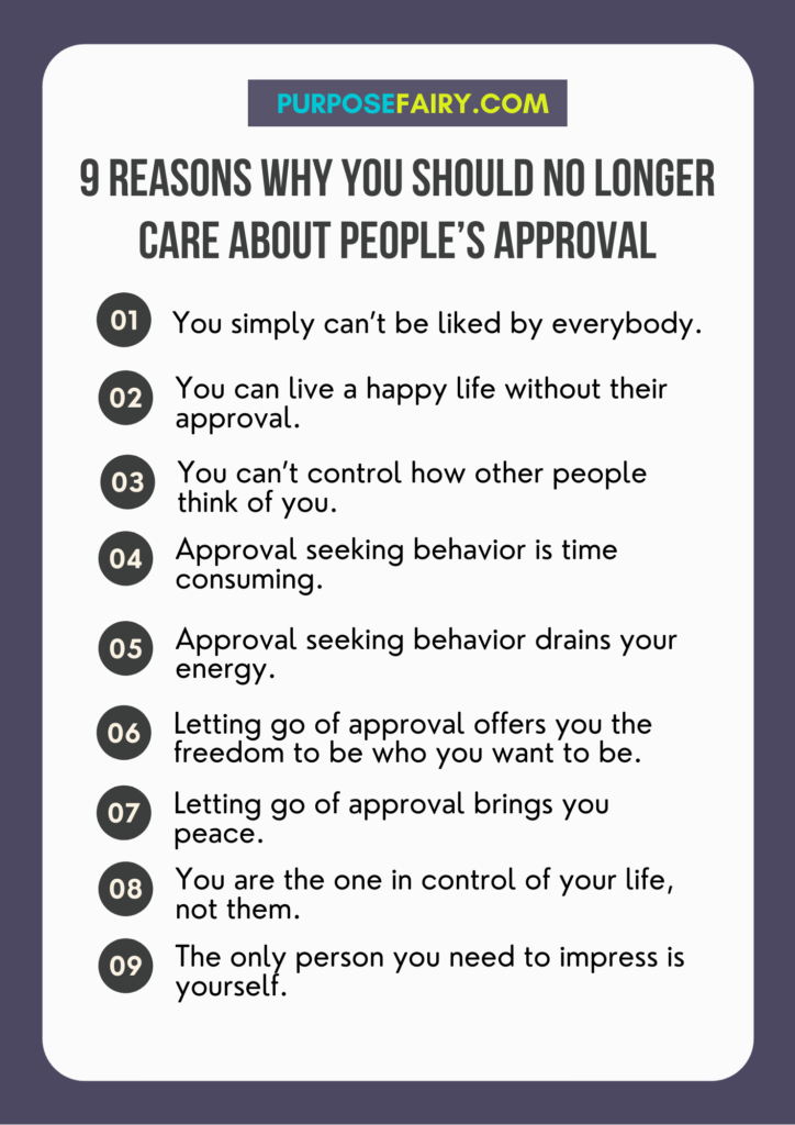 9 Reasons Why You Should No Longer Care About People's Approval