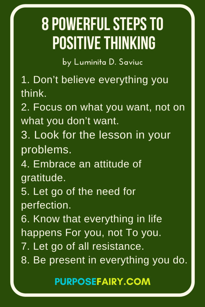 8 Powerful Steps To Positive Thinking