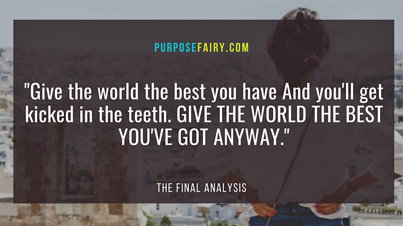 The Final Analysis: 8 Powerful Perspectives on Life That Will Change You for the Better